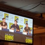 Cameron Welsh, Cameron Cuffe, and Damian Kindler at SDCC Krypton panel